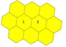 Математика k-4 figure 6 cells honey